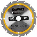 Диск пильный по дереву с гвоздями 165х20 мм DeWalt DT1948, 16 Т