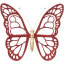 Украшение новогоднее «Бабочка», пластик, цвет красный