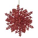 Украшение новогоднее «Снежинка Классика», 4 см, пластик, цвет красный