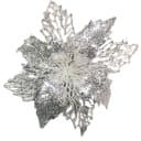 Украшение новогоднее «Цветок Рождественник», пластик, цвет бриллиантовый