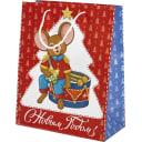 Пакет подарочный «Мышка с барабаном» 26x32 см