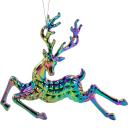 Украшение ёлочное ErichKrause Decor «Олень переливающийся», 14 см, пластик, цвет фиолетовый