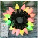 Электрогирлянда наружная нить «Свечки» 5.5 м 30 LED мультисвет