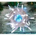 Электрогирлянда комнатная нить «Алмазы» 10 м 100 LED белый