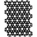 Решётка газонная 40x53 см цвет чёрный
