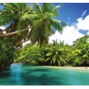 Фотообои 3D Flizart «Тропический остров», флизелиновые, 300x280 см