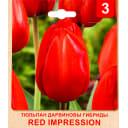 Тюльпан «Red Impression» размер луковицы 10/11, 3 шт.