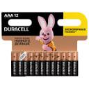 Батарейка алкалиновая Duracell AAA/LR03 12 шт