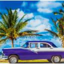 Картина на стекле «Куба» 30х30 см