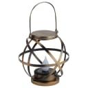 Светильник подвесной уличный на солнечной батарее, металл, 26 см