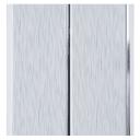 Панель ПВХ 2-х секционная серая 8 мм 3000х200 мм 0.6 м²