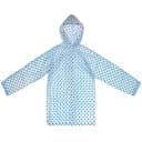 Плащ-дождевик детский, размер S, цвет синий горох