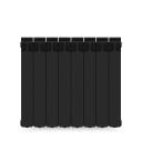 Радиатор Rifar Monolit 500, 8 секций, цвет чёрный, биметалл