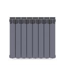 Радиатор Rifar Monolit 500, 8 секций, цвет серый, биметалл