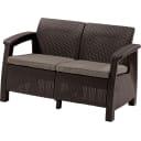 Диван Keter Corfu love seat 128x70x79 см полиротанг коричневый