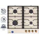 Варочная панель газовая Hansa BHGY610391, 4 конфорки, цвет бежевый