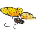 Фигура садовая «Жёлтая бабочка» высота 12.5 см