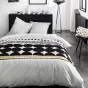 Набор постельного белья Круги двуспальный сатин чёрно-белый