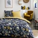 Комплект постельного белья «Луговые травы» двуспальный поплин синий