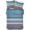 Комплект постельного белья «Кимоно» полутораспальный поплин синий