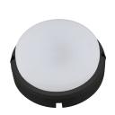 Светильник ЖКХ светодиодный Volpe 12 Вт IP65 с датчиком движения и света, накладной, круг, цвет чёрный