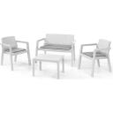Набор садовой мебели Emily полипропилен/полиэстер белый: диван, 2 кресла, стол