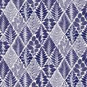 Скатерть с бейкой «Листья», прямоугольная, 160х135 см, цвет синий