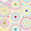 Скатерть с бейкой «Круги», прямоугольная, 160х135 см, разноцветная