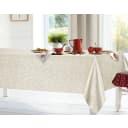 Скатерть «Розы» ПВХ 160х140 см цвет бежевый
