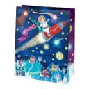 Пакет подарочный «На ракете» 26x32 см