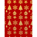 Бумага упаковочная «Красное золото» 70х100 см