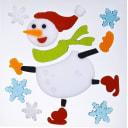 Набор новогодних наклеек «Счастливый снеговик»