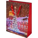 Пакет подарочный «Праздничны город» 30 см