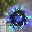 Электрогирлянда наружная «Нить» 8 м 100 LED фиолетовый-зелёный 8 режимов