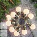 Электрогирлянда комнатная «Нить» 3 м 10 LED тёплый белый на батарейках