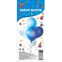 Набор надувных шаров с принтом «Снежинка» 5 шт