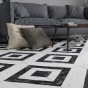 Керамогранит Cersanit Diva 42x42 см 1.58 м² цвет чёрно-белый