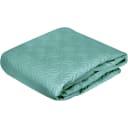 Покрывало Aqua 2, 220x240 см, хлопок, цвет бирюзовый