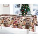 Скатерть «Новогоднее чудо», прямоугольная, 160x135 см, цвет коричневый