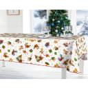 Скатерть «Новый год», прямоугольная, 160x135 см, цветой белый