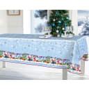 Скатерть «Новогодняя сказка», прямоугольная, 160x135 см, цвет синий