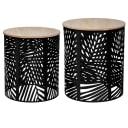 Набор столиков кофейных Atmosphera 157205A, ø39 см, h40/45 см, дерева/металл, 2 шт.