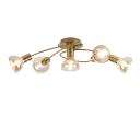 Люстра потолочная Alba D7006-305, 5 ламп, 15 м², цвет золотой/бежевый