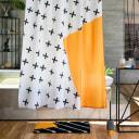 Штора для ванны Moroshka Memphis 180x200 см, полиэстер, цвет белый/жёлтый