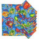 Набор полотенец Текстильная лавка 10 шт, цвет синий