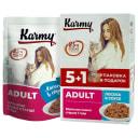 Karmy ADULT Лосось в соусе 480 г Консервированный полнорационный корм для кошек старше 1 года.