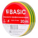 Изолента класс А (0,18х19мм) (20м.) желто-зеленая EKF Basic