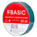 Изолента класс В (0,13х15мм) (20м.) зеленая EKF Basic