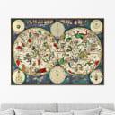 Картина Картины в Квартиру Карта созвездий 17 век KVK1-147621628, 75х105 см