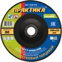 Круг лепестковый торцевой Практика Профи 032-416 180 х 22 мм Р 80 1 шт